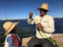 Uros auf dem Titicacasee
