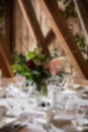 rustik bordsdekoration till bröllop