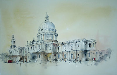 london st pauls art print peter french