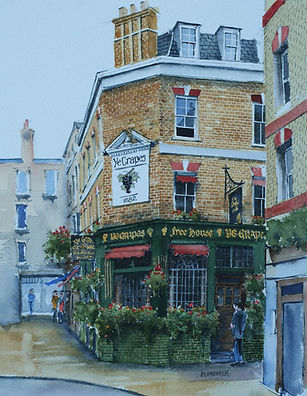 london pubs Ye Grapes Shepherd Market art