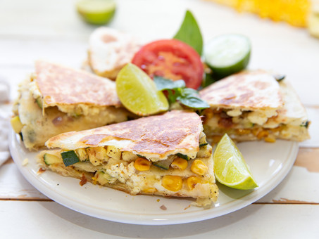 Sweet Corn and Goat's Cheese Quesadillas