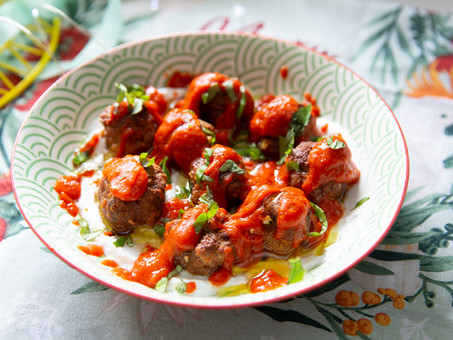 Spicy Meatballs with Yogurt