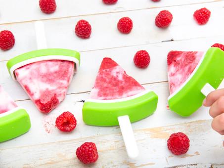 Creamy Raspberry Yogurt Ice-Pops