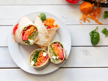 Rainbow Veggie Wraps