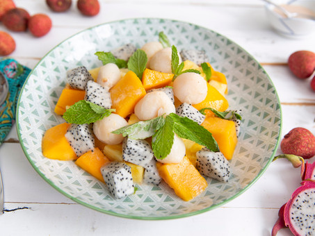 Tropical Fruit Salad with Lychee and Coconut