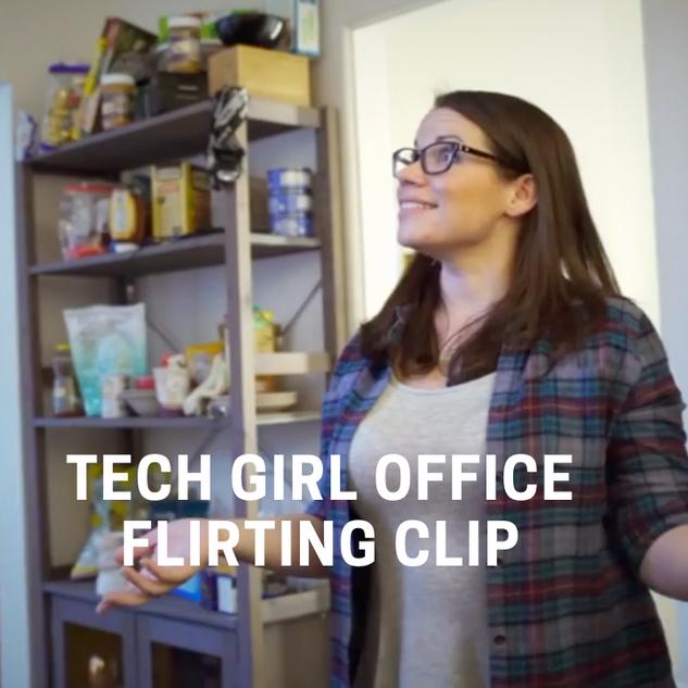 Tech Girl Office Flirting Clip
