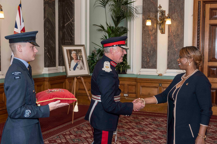 Sonia Parnell receiving her BEM