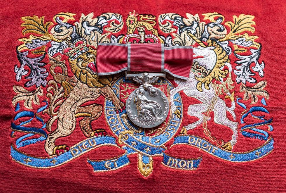 Sonia's BEM Medal