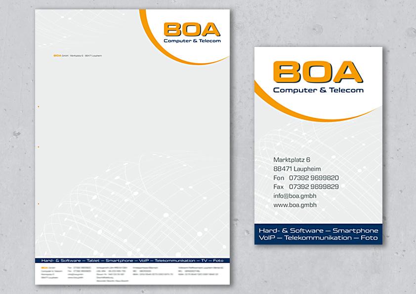 Briefpapier & Visitenkarte
