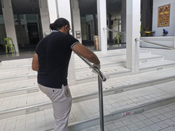 Disinfection of handrails
