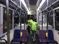 Disinfection of local buses