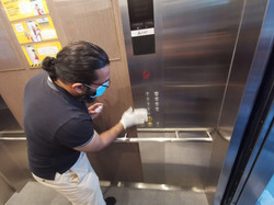 Disinfecting Lift At Local Mosque