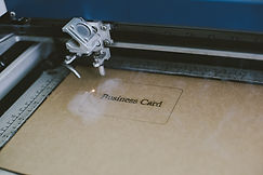 Laser engraving business card from recyc