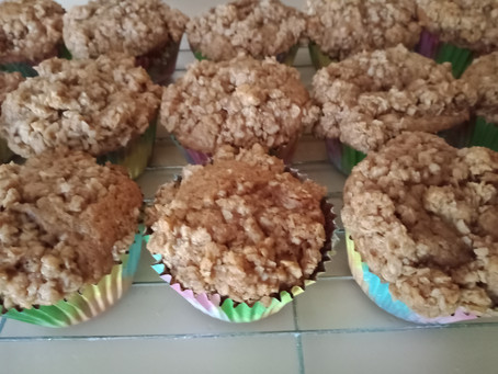 Streusel Topped Banana Bread Muffins