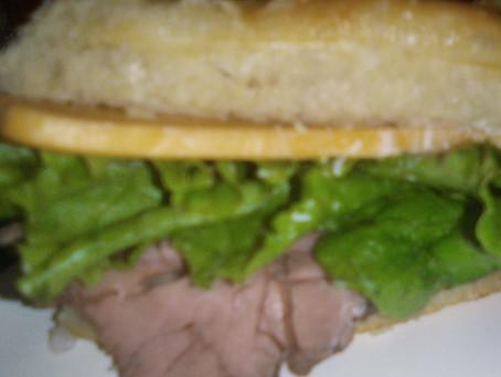 Asiago Roast Beef Sandwich
