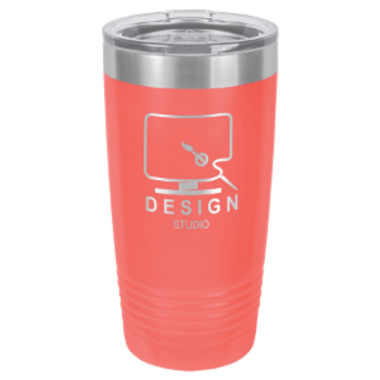 Custom Laser Engraved 20 oz. Tumblers with Lid