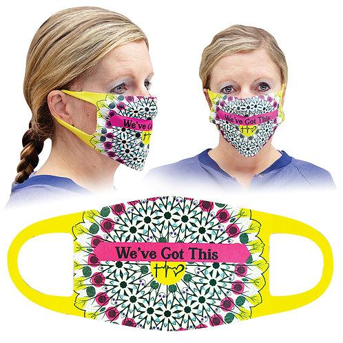 Case of 25 Custom White Polyester Single Layer Masks