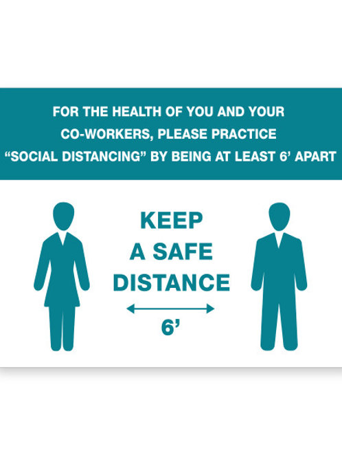 Case of 12 Safe Distance Signs