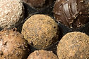 Close-up of a set of assorted truffles.j
