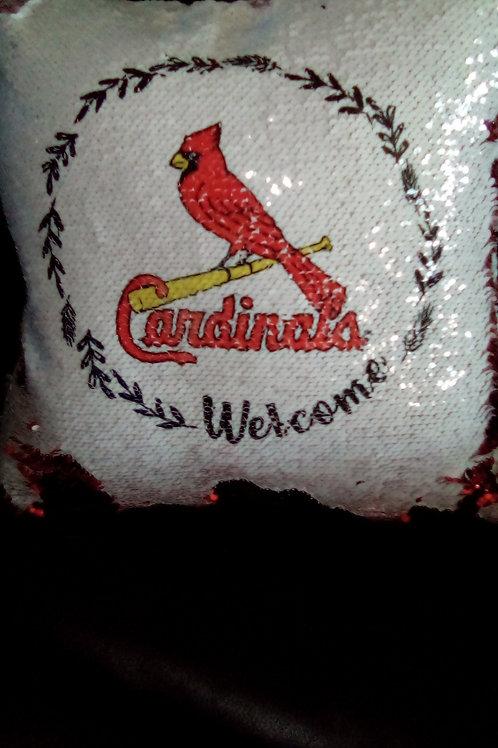 "Sequin Flip StL Cardinals 15""x15"" Pillow"