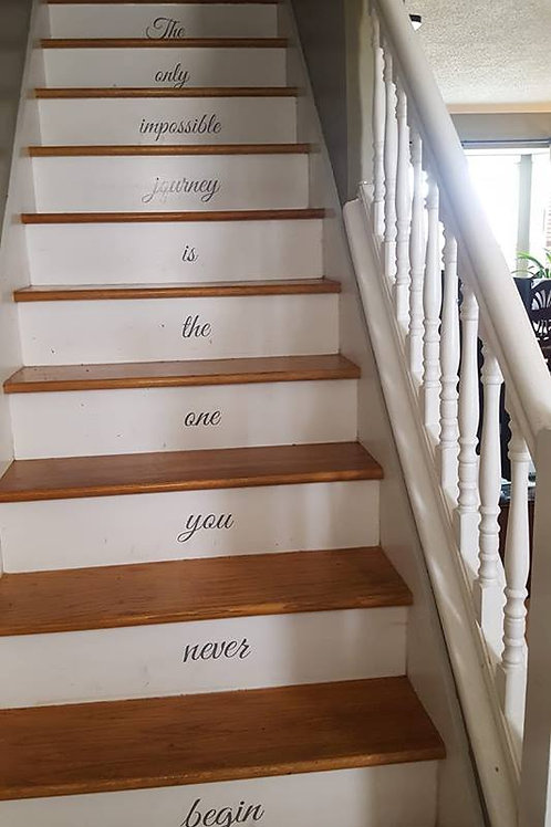 Set of 13 Stair Decals