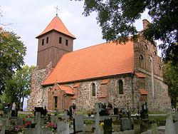 Grzybno, Griebenau kerk