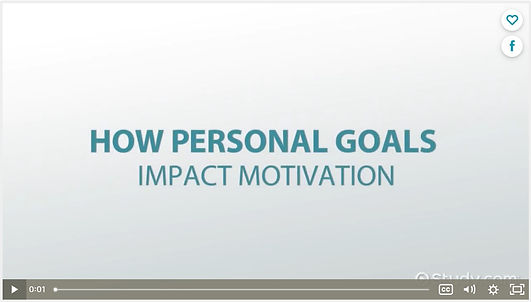 How Personal Goals Impact Motivation by
