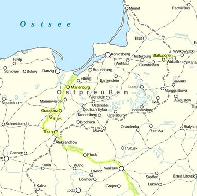 Karte Weichsel Nogat Linie