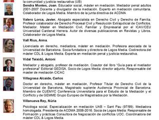 MÀSTER DE MEDIACIÓ I GESTIÓ COL·LABORATIVA DE CONFLICTES INICI ONLINE 21octubre PRESENCIAL 8 novembr