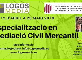 Especialització en Mediació Civil Mercantil BCN 12 abril a 25 maig 2019