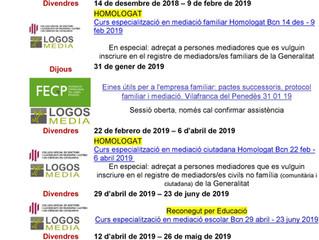 PROPERES ACTIVITATS ORGANITZADES PER LOGOSMEDIA 18/19