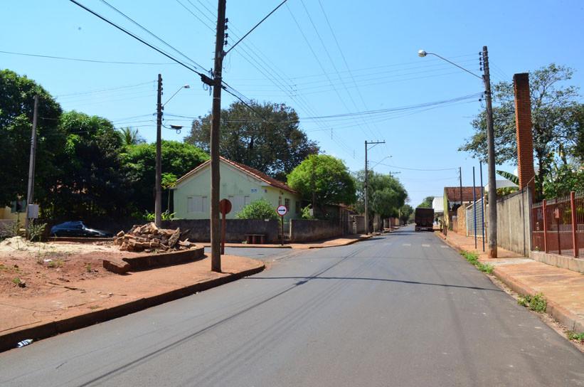 Rua onde aconteceu o roubo