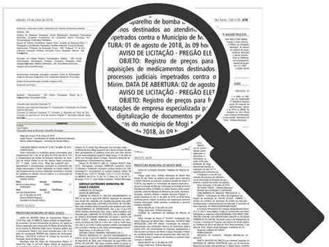 Conheça os contratos, aditamentos e licitações divulgados pela Prefeitura de Motuca