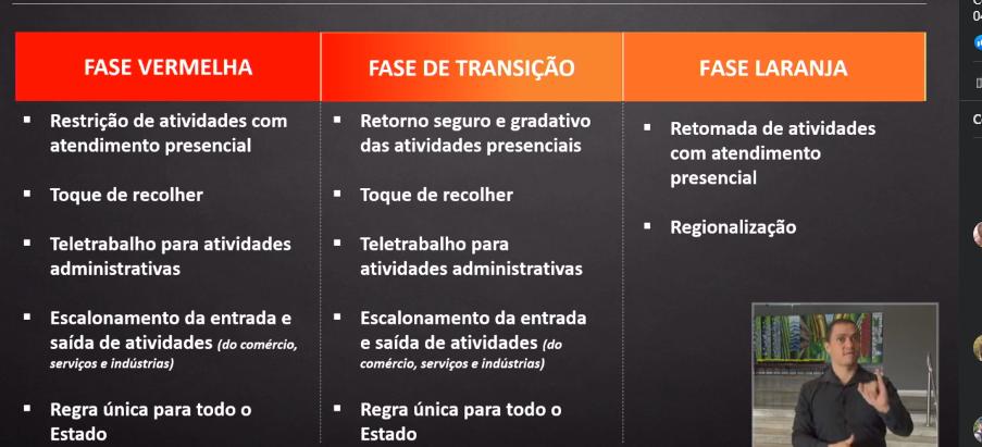 """Estado anuncia """"Fase de transição"""" com retorno gradativo das atividades a partir de domingo (18)"""