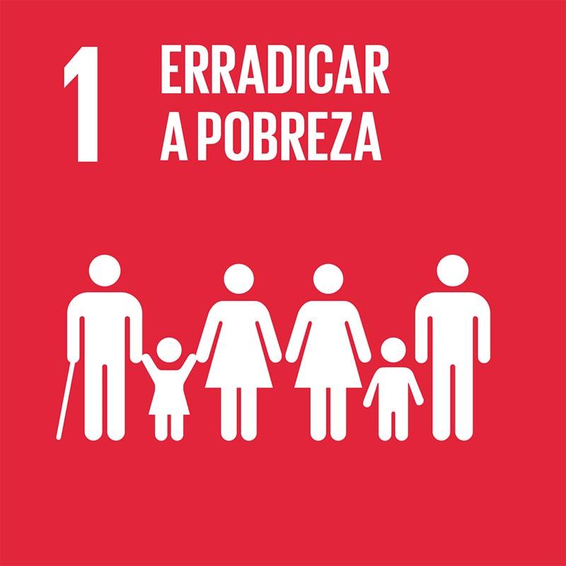ODS busca acabar com a pobreza. Click na imagem e conheça as metas