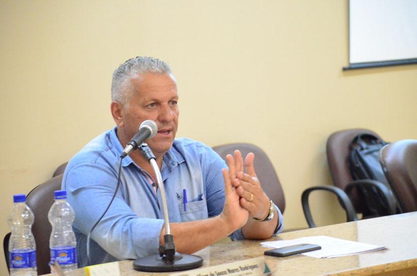 O secretário Márcio Aparecido Contarim