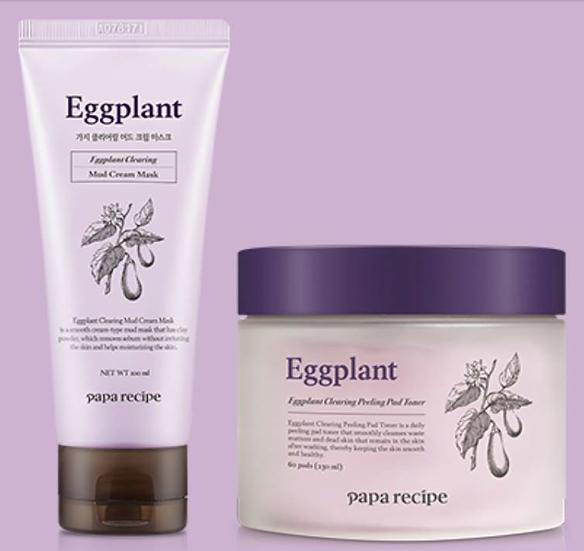 [SET] Papa Recipe Eggplant Clearing Peeling Pad Toner&Mud Cream Mask