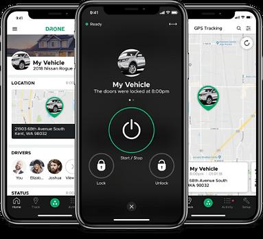 DroneMobile vehicle smartphone remote starter