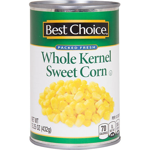 BC NO SALT WHOLE KERNEL CORN 15.25 OZ