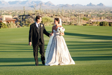Golf course wedding in Scottsdale