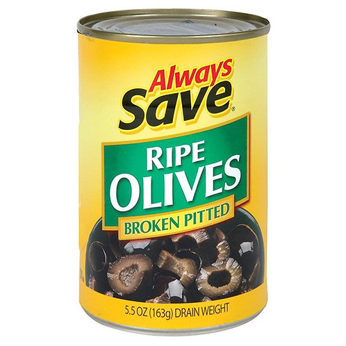 AS BROKEN PITTED OLIVES 5.75 OZ