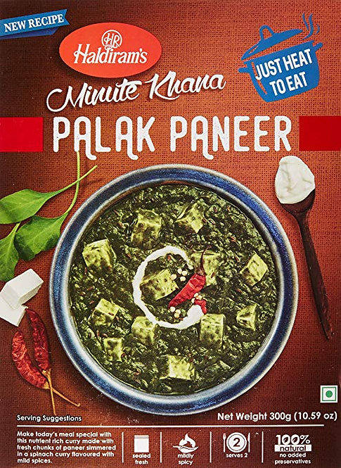 HALDIRAM READY TO EAT PALAK PANEER 300GM*