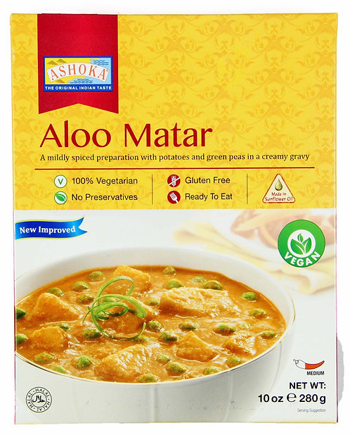 ASHOKA READY TO EAT ALOO MATAR  280GM