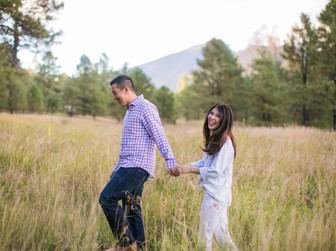 engagement session photos in flagstaff arizona