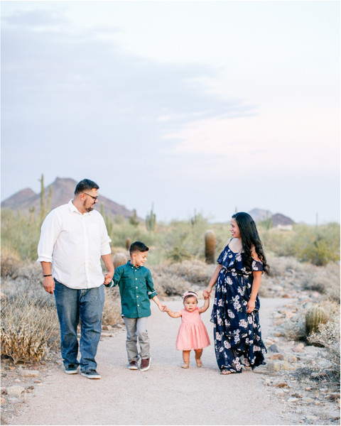 Family Portrait Session in the Scottsdale Desert