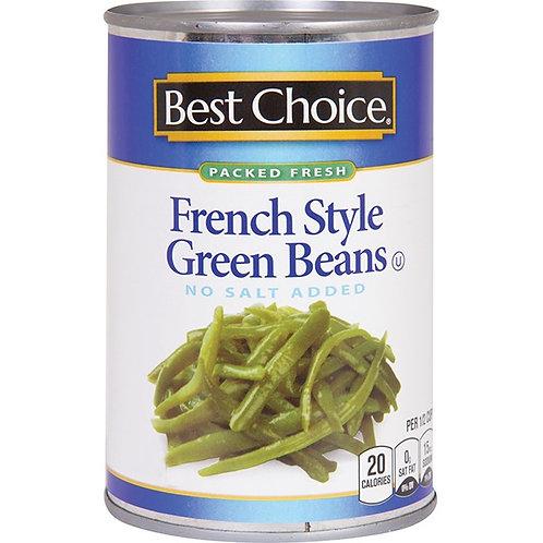 BC NO SALT CUT GREEN BEANS 14.5 OZ