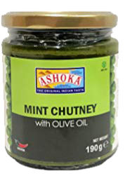 ASHOKA CHUTNEY MINT IN OLIVE OIL 6.7OZ