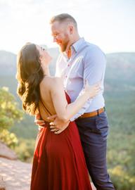 engagement session in sedona arizona