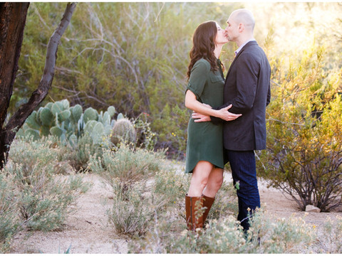 Pretty Engagement Session in Scottsdale Arizona