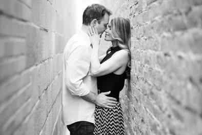 romantic engagement session image